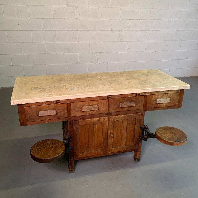 American Early 20th Century Industrial Laboratory Workbench For Sale