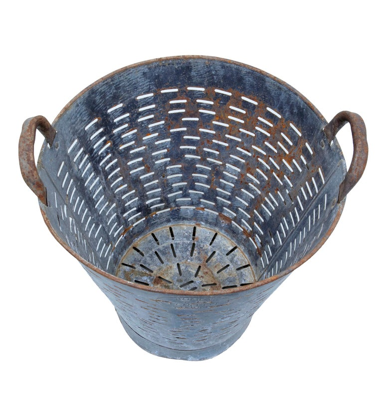Swedish Early 20th Century Industrial Metal Basket For Sale