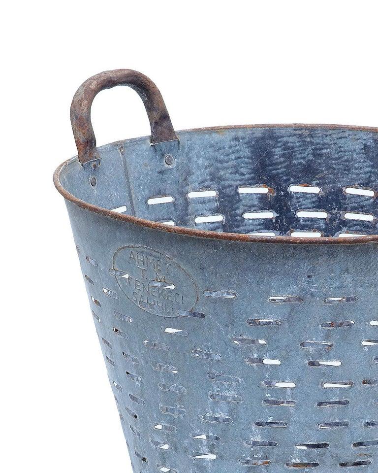 Metalwork Early 20th Century Industrial Metal Basket For Sale