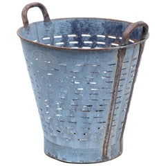 Early 20th Century Industrial Metal Basket