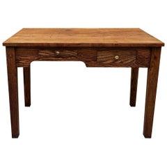 Early 20th Century Industrial Oak Engineer Foreman's Desk