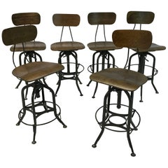 Early 20th Century Industrial Toledo Stools