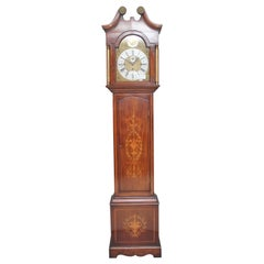 Early 20th Century Inlaid Mahogany Longcase Clock