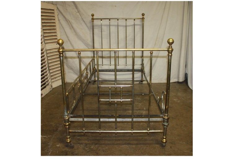 Early 20th century iron bed Dimension of the front is 49