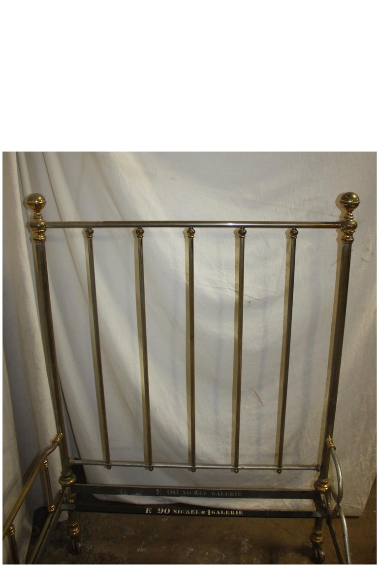 French Early 20th Century Iron Bed For Sale