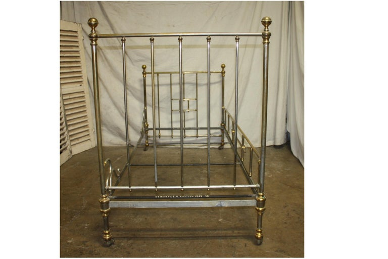 Early 20th Century Iron Bed For Sale 2