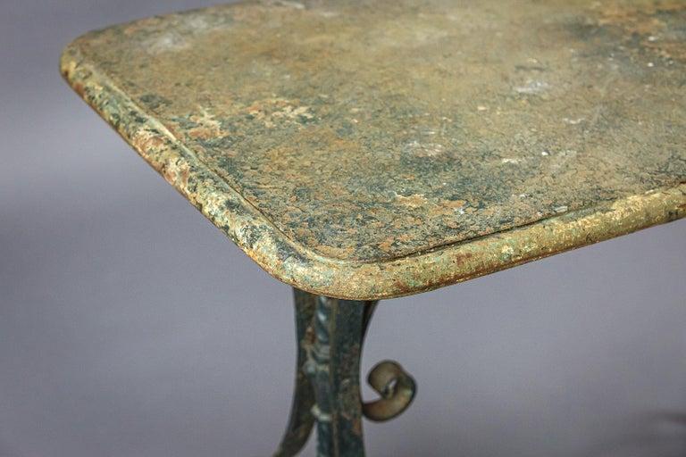 Early 20th Century Iron Garden Table 6