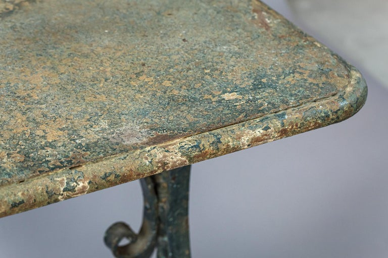 Early 20th Century Iron Garden Table 9