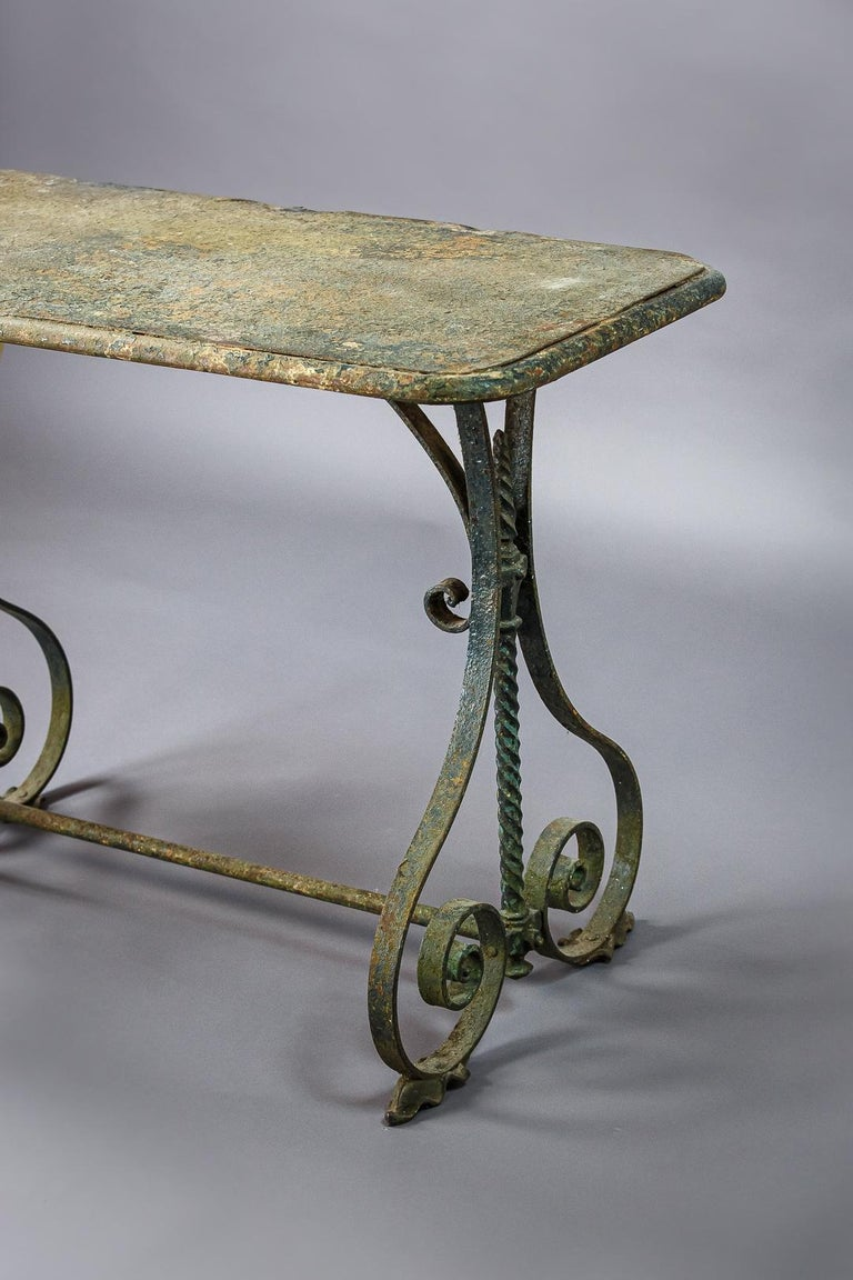 Early 20th Century Iron Garden Table In Fair Condition In Pease pottage, West Sussex