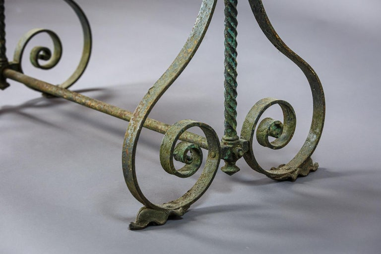 Early 20th Century Iron Garden Table 2