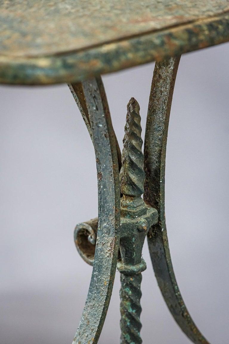 Early 20th Century Iron Garden Table 3