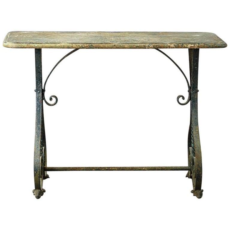 Early 20th Century Iron Garden Table