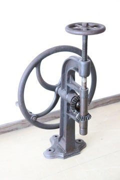 Early 20th Century Iron Industrial Drill
