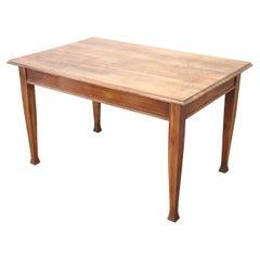 Early 20th Century Italian Art Nouveau Walnut Wood Dining Room Table