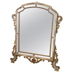 Early 20th Century Italian Baroque Style Lacquered and Gilded Wall Mirror