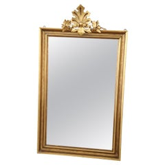 Early 20th Century Italian Carved and Gilded Wood Wall Mirror