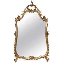 Early 20th Century Italian Carved Giltwood Wall Mirror