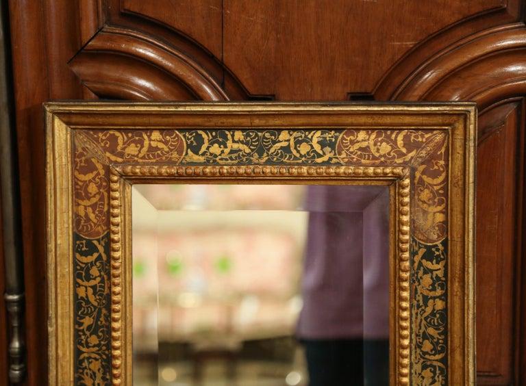 Early 20th Century Italian Gilt Wood Wall Mirror With Hand