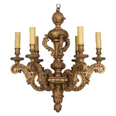 Early 20th Century Italian Giltwood Chandelier