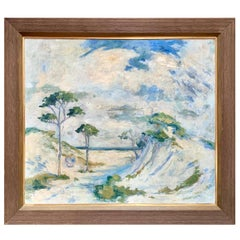 Early 20th Century Italian Impressionist Plein Air Landscape Painting