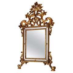 Early 20th Century Italian Louis XV Style Carved and Gilded Wood Wall Mirror