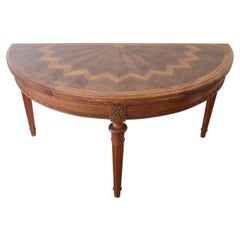 Early 20th Century Italian Louis XVI Style Walnut Tilt-Top Console Table