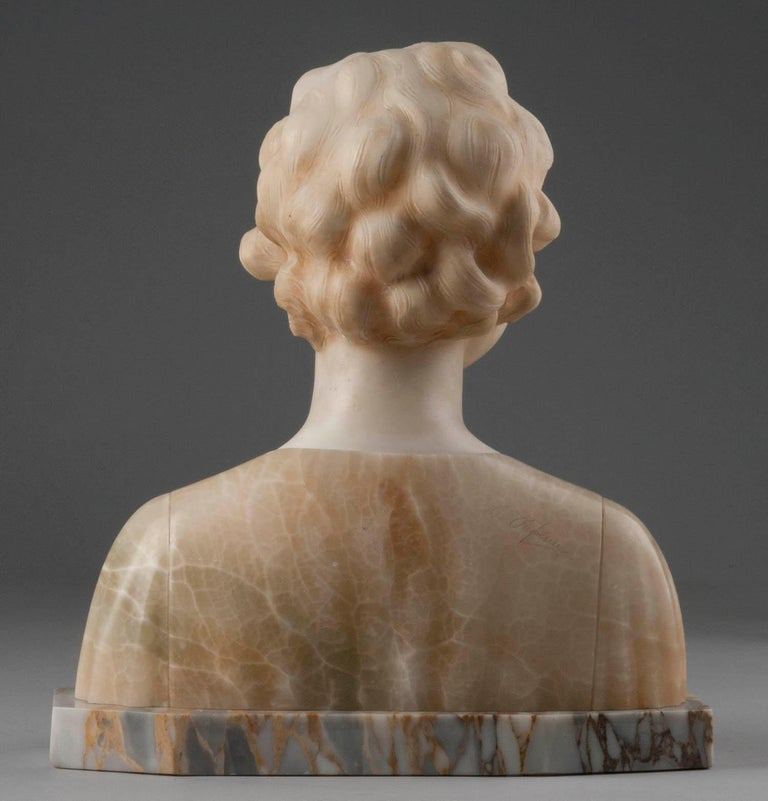 Early 20th Century Italian Marble Bust of a Child by Trefoloni For Sale 6