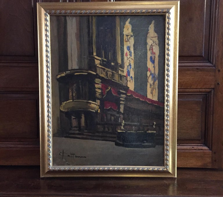 Early 20th Century Italian Milan Duomo Cathedral Interior by Achille Cattaneo For Sale 14