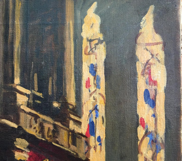 Early 20th Century Italian Milan Duomo Cathedral Interior by Achille Cattaneo For Sale 1