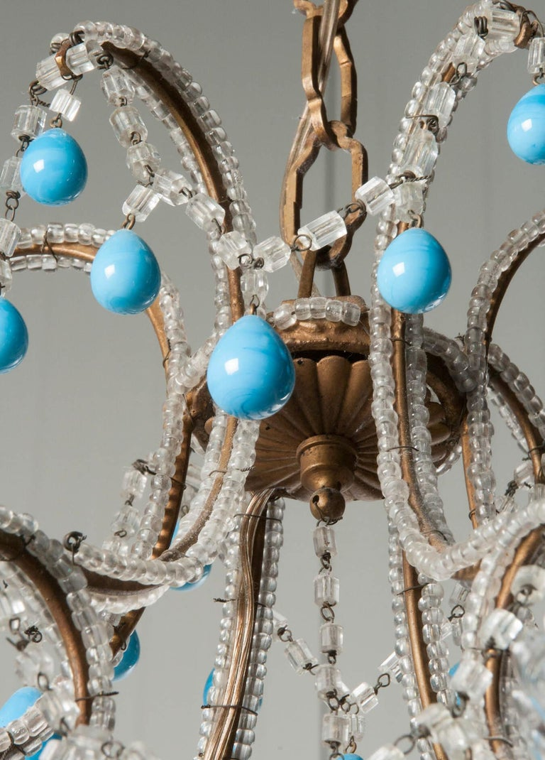 Early 20th Century Italian Murano Chandelier Glass Drops 5