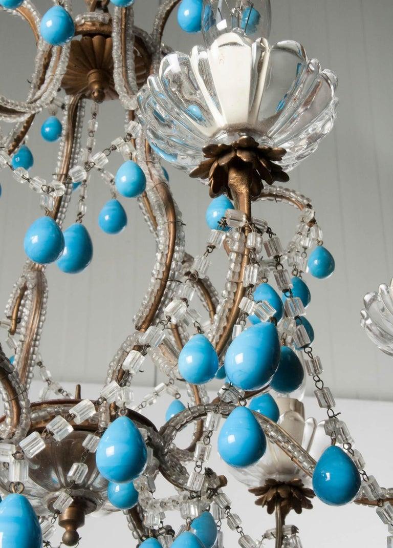 Early 20th Century Italian Murano Chandelier Glass Drops 6