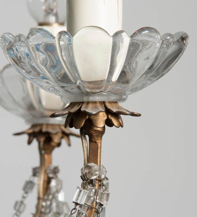 Early 20th Century Italian Murano Chandelier Glass Drops 8