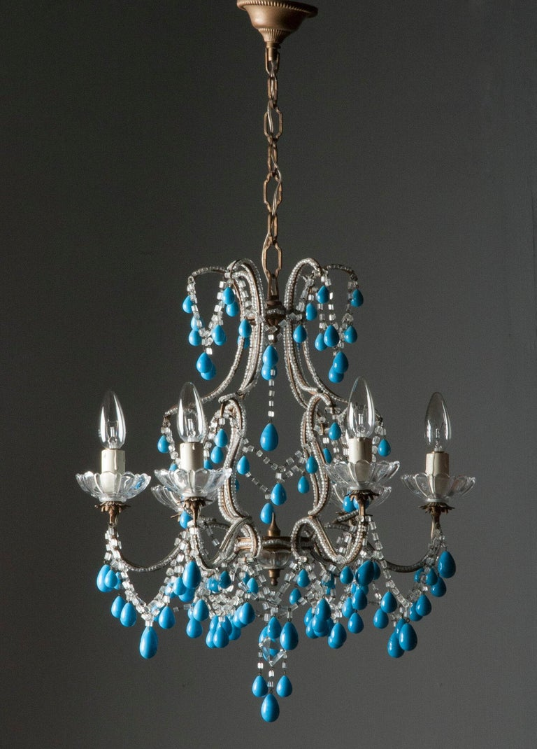 Early 20th Century Italian Murano Chandelier Glass Drops 9