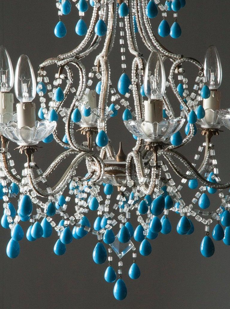 Early 20th Century Italian Murano Chandelier Glass Drops 10