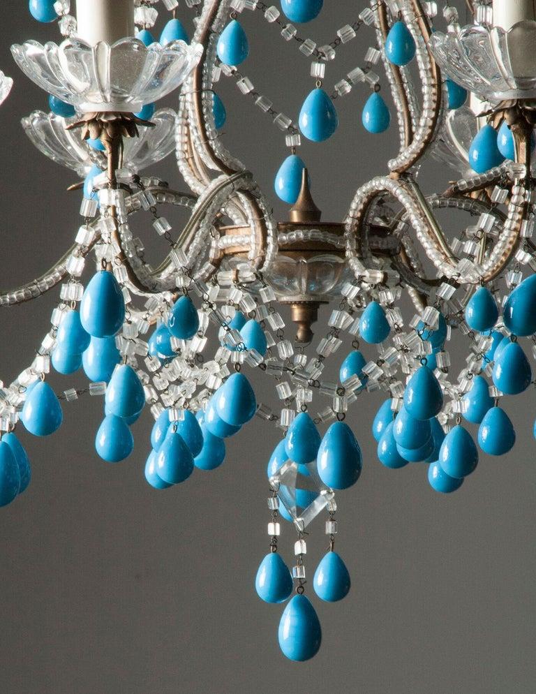 Early 20th Century Italian Murano Chandelier Glass Drops 11