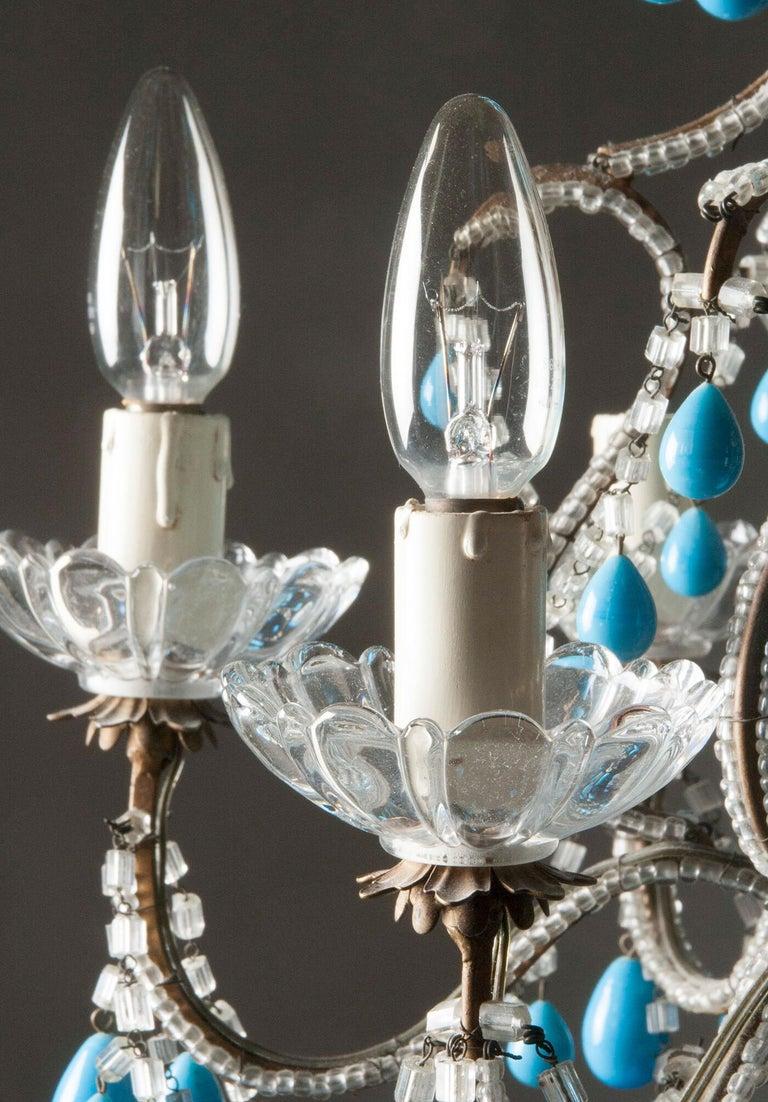 Early 20th Century Italian Murano Chandelier Glass Drops 13