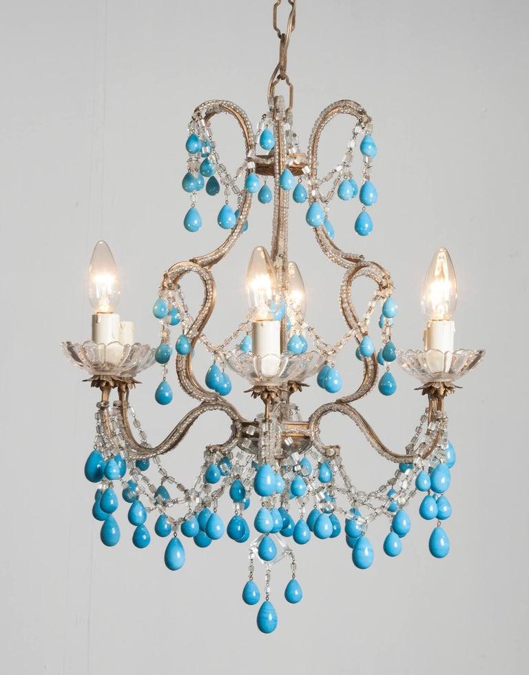 Early 20th Century Italian Murano Chandelier Glass Drops 14
