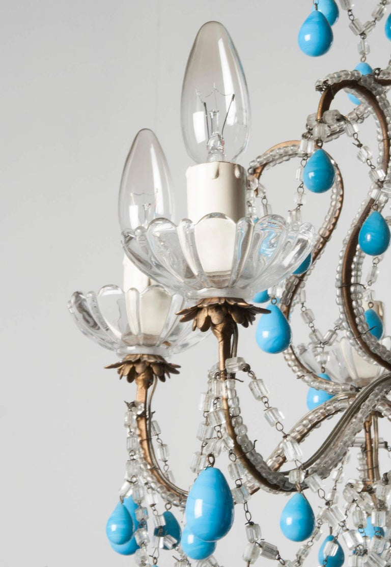 Early 20th Century Italian Murano Chandelier Glass Drops 1