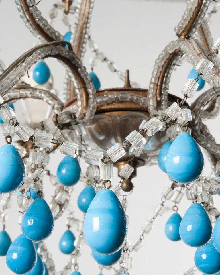 Early 20th Century Italian Murano Chandelier Glass Drops 3