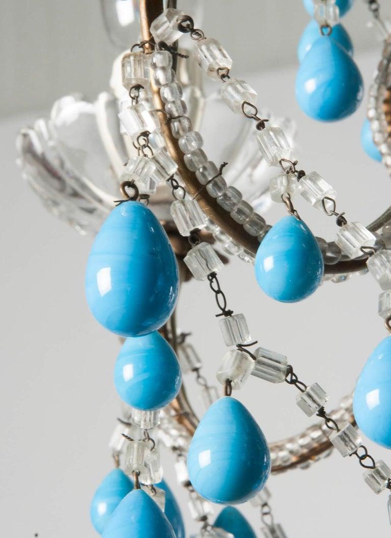 Early 20th Century Italian Murano Chandelier Glass Drops 4