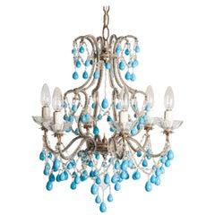 Early 20th Century Italian Murano Chandelier Glass Drops