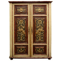 Early 20th Century Italian Painted and Giltwood Cabinet
