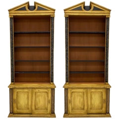 Early 20th Century Italian Painted Neo-Classical Bookcases, Pair