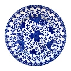 Early 20th Century Japanese Blue and White Plate