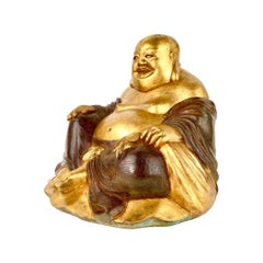Early 20th Century Japanese Bronze of Laughing Buddha