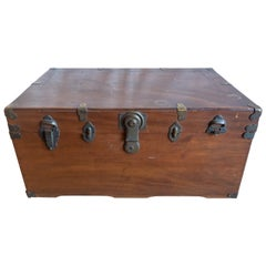 Early 20th Century Japanese Camphor Wood Campaign Chest