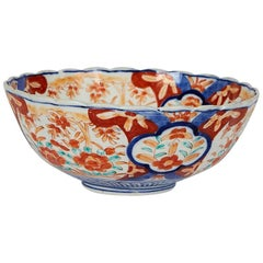 Early 20th Century Japanese Imari Scalloped Bowl