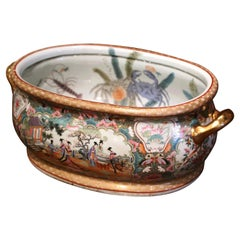 Early 20th Century Japanese Painted and Gilt Porcelain Foot Bath Bowl