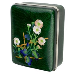 Early 20th Century Japanese Silver and Enamel Box