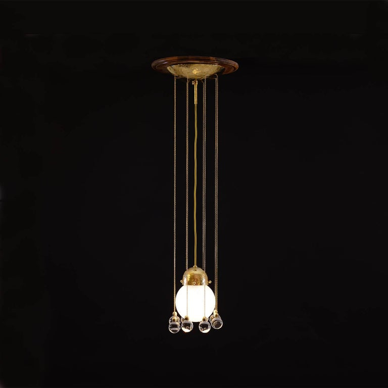 Jugendstil Josef Hoffmann & Wiener Werkstaette Ceiling Lamp, Re-Edition For Sale